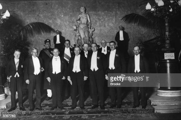 Chief Delegates to the Imperial Conference attending a Government dinner at Lancaster House Back row l to r Bijay Chand Mahtab Maharaja of Burdwan...
