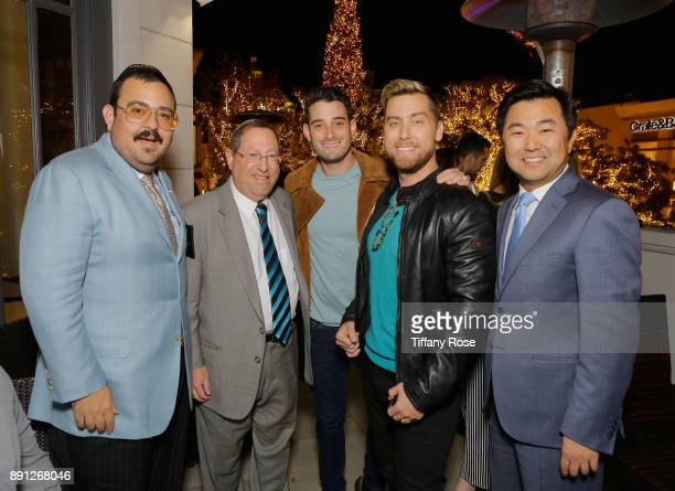 Chief Deputy of Public Safety Greg Martayan Councilmember Paul Koretz Michael Turchin Lance Bass and Councilmember David Ryu at the Village Synagogue...