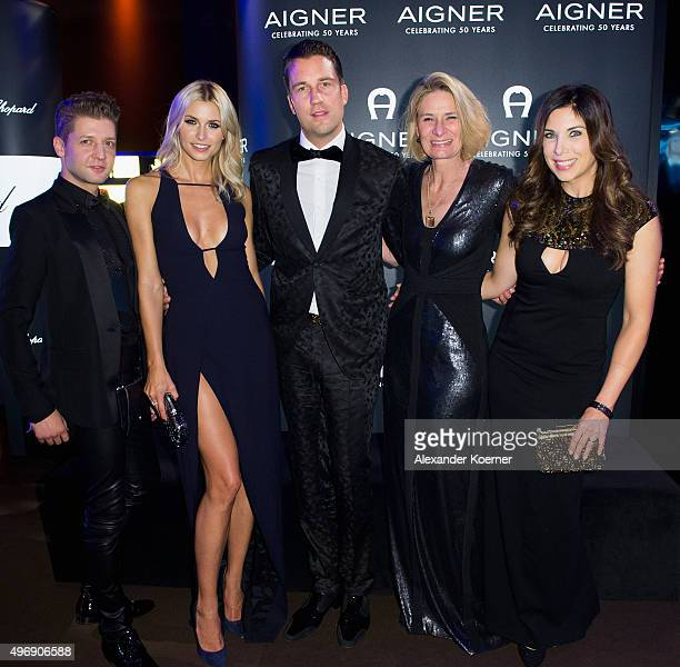 Chief designer Christian Beck, Lena Gercke, DJ Antoine, CEO AIGNER Sibylle Schoen and Alexandra Polzin attend the Bambi Awards 2015 party at Atrium...