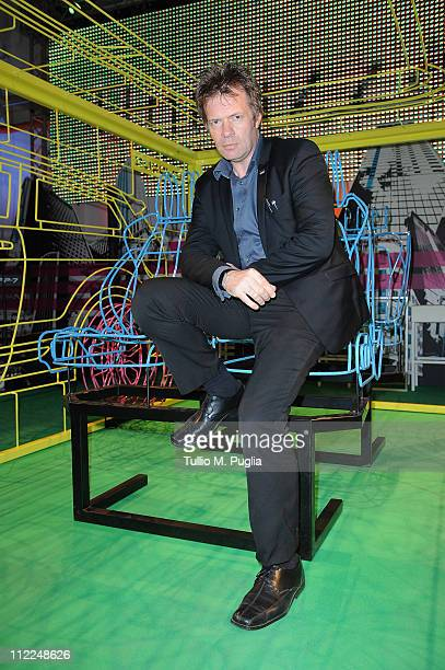 Chief designer of Land Rover Andy Wheel attends the Benedict Radcliffe wireframe design installation inspired by Range Rover Evoque at the Opificio...