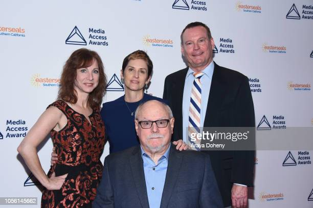 Chief Development Officer Nancy Weintraub Deborah Calla President and CEO Mark Whitley and Alan Ruckerattend the Media Access Awards 2018 on November...