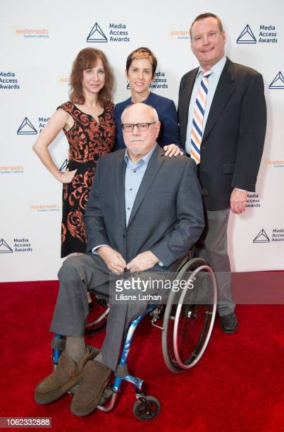Chief Development Officer Nancy Weintraub Writer/Producer Deborah Calla President and CEO Mark Whitley and Writer Alan Rucker attend the 2018 Media...