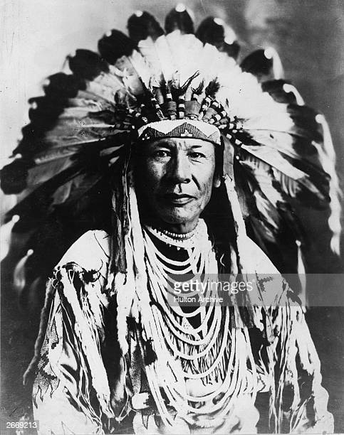 Chief Duck of the Native American Blackfoot tribe
