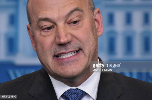Chief Economic Advisor Gary Cohn speaks in the Brady Briefing Room on US President Donald Trump's tax reform plans on April 26 2017 in Washington DC...