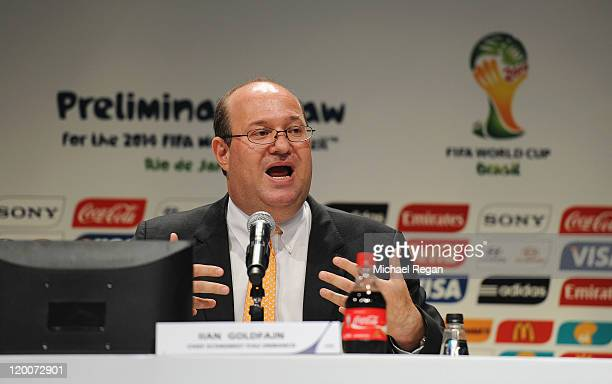 Chief Economist of Itau Unibanco Ilan Goldfajn speaks to the press during a media briefing ahead of the Preliminary Draw of the 2014 FIFA World Cup...