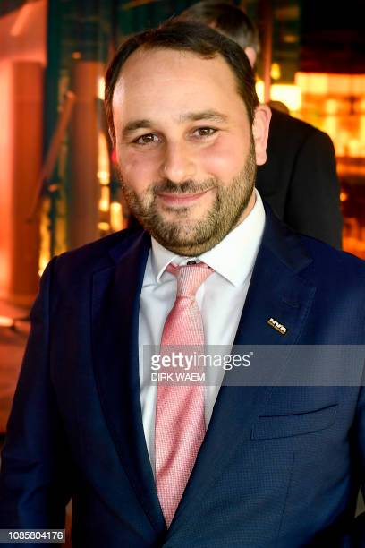 Chief Editor of Joods-Actueel, Michael Freilich pictured at a press conference of N-VA to present the elections list for Antwerp Province with N-VA...