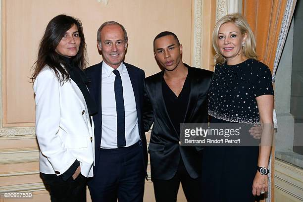 Chief Editor of Vogue Paris Emmanuelle Alt CEO Condenast France Xavier Romatet Stylist of Balmain Olivier Rousteing and CEO of Swarovski UK Ltd Nadja...