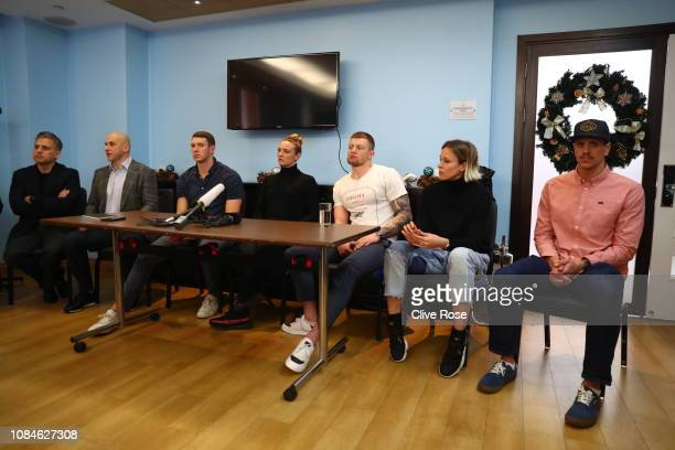ISL chief executive Ali Khan Konstantin Grigorishin Head of the ISL Advisory Board and athletes Michael Andrew Katinka Hosszu Adam Peaty Federica...
