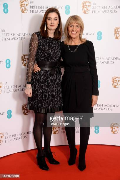 Chief Executive Amanda Berry OBE and BAFTA Chair Jane Lush attend The EE British Academy Film Awards BAFTA nominations announcement at BAFTA on...