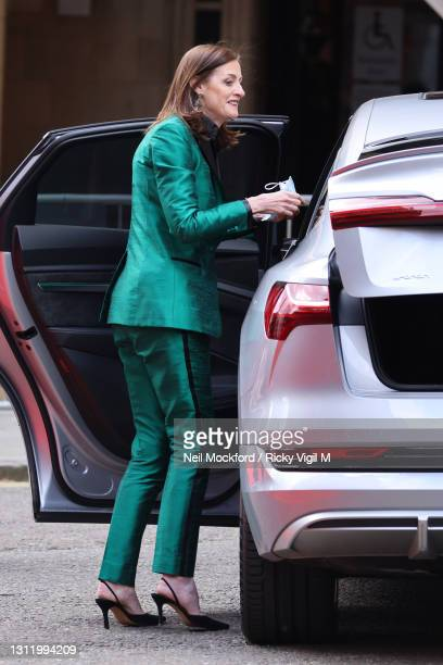 Chief Executive Amanda Sonia Berry seen arriving at the EE British Academy Film Awards 2021 at the Royal Albert Hall on April 11, 2021 in London,...