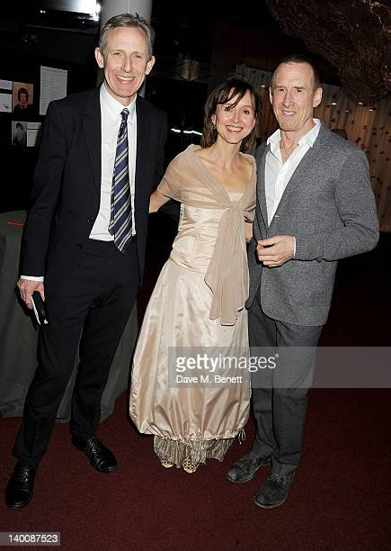 Chief Executive and Artistic Director of Sadler's Wells Alistair Spalding Director of Development Georgie Shields and choreographer William Forsythe...