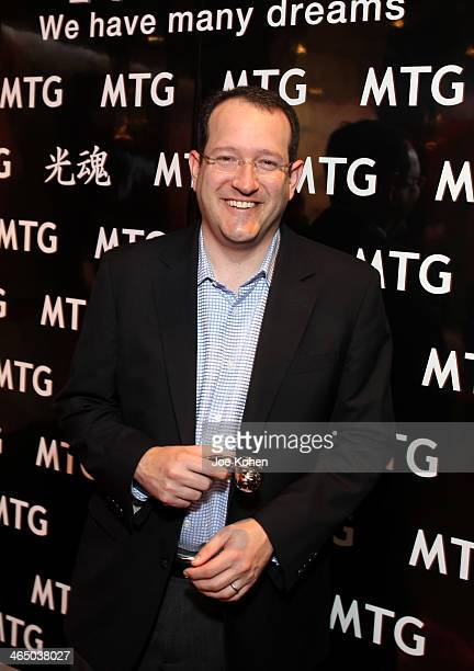 Chief executive and president of Anschutz Entertainment Group Inc Dan Beckerman attends the GRAMMY Gift Lounge during the 56th Grammy Awards at...