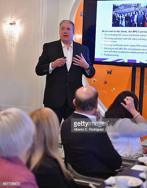 Chief Executive British Film Commission Adrian Wootton speaks at the British Film Commission's UK Film TV Week Animation Roundtable Breakfast at...