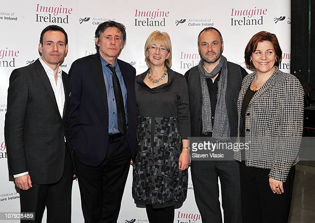 Chief Executive Culture Ireland Eugene Downes actor and Cultural Ambassador for Ireland Gabriel Byrne Irish Minister for Tourism Culture and Sport...