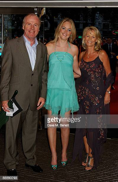 FA Chief Executive David Davies and his family arrive at the world premiere of Goal at the Odeon Leicester Square on September 15 2005 in London...