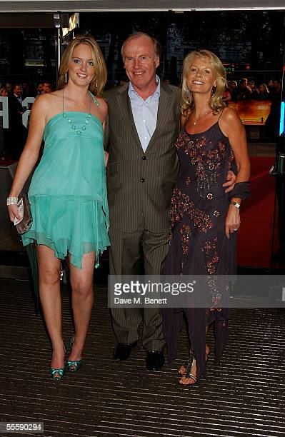 FA Chief Executive David Davies and his family arrive at the world premiere of 'Goal' at the Odeon Leicester Square on September 15 2005 in London...