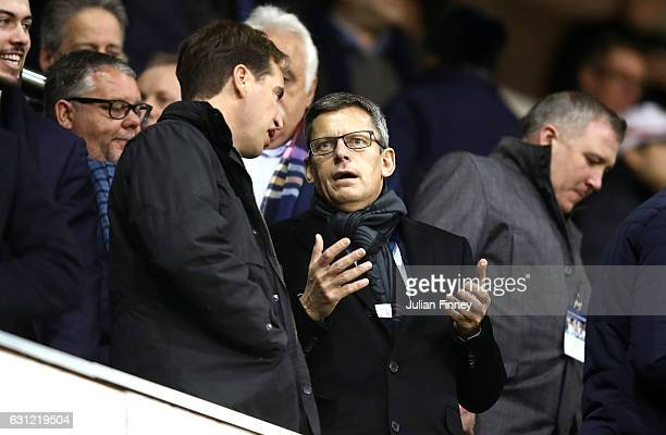 FA chief executive Martin Glenn looks on prior to The Emirates FA Cup Third Round match between Tottenham Hotspur and Aston Villa at White Hart Lane...