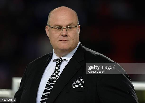 Chief executive Nigel Wood during the First Utility Super League Grand Final between St Helens and Wigan Warriors at Old Trafford on October 11, 2014...