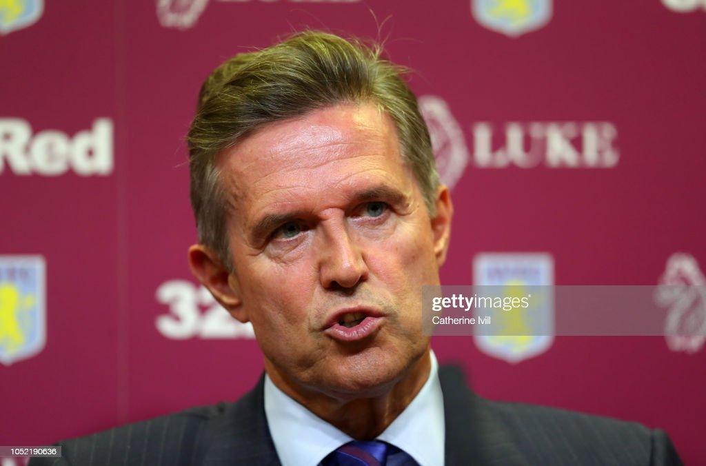 Aston Villa Unveil New Management Team : News Photo