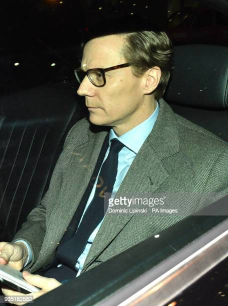 Chief Executive of Cambridge Analytica Alexander Nix leaves the offices in central London as the data watchdog is to apply for a warrant to search...