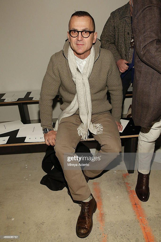 Chief Executive of CFDA, Steven Kolb attends Public School runway show during MADE Fashion Week Fall 2015 at Studio 330 on February 15, 2015 in New York City.