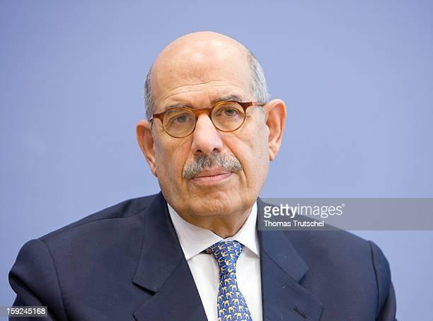 Chief executive of International Atomic Energy Agency Mohammed El Baradei, November 20, 2009 in Berlin, Germany.