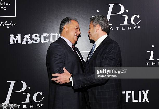 Chief Executive of iPic Entertainment Hamid Hashemi and CEO of Howard Hughes Corporation David Weinreb attend 'Mascots' New York Premiere at iPic...