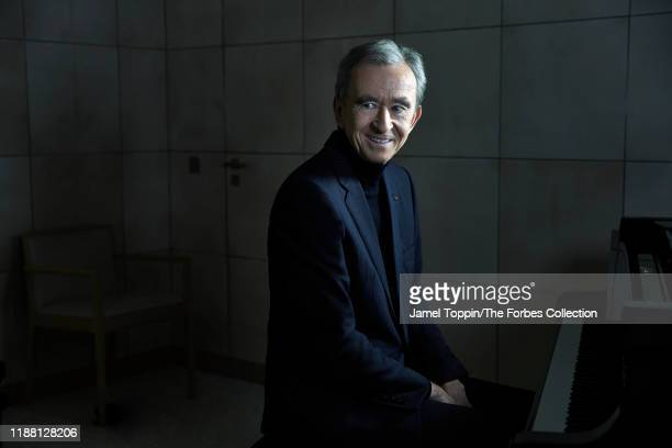 Chief Executive of LVMH, Bernard Arnault is photographed for Forbes Magazine on October 9, 2019 in Paris, France. CREDIT MUST READ: Jamel Toppin/The...