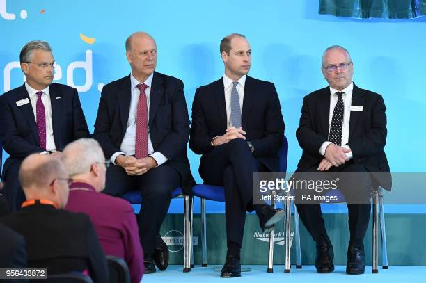 Chief Executive of Network Rail Mark Carne Transport Secretary Chris Grayling the Duke of Cambridge and Sir Peter Hendy chairman of Network Rail at...