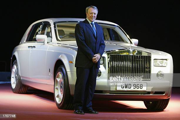 Chief Executive of RollsRoyce Tony Gott stands with the newly unveiled 'Phantom' model January 3 2003 in Goodwood England The Phantom is the first...