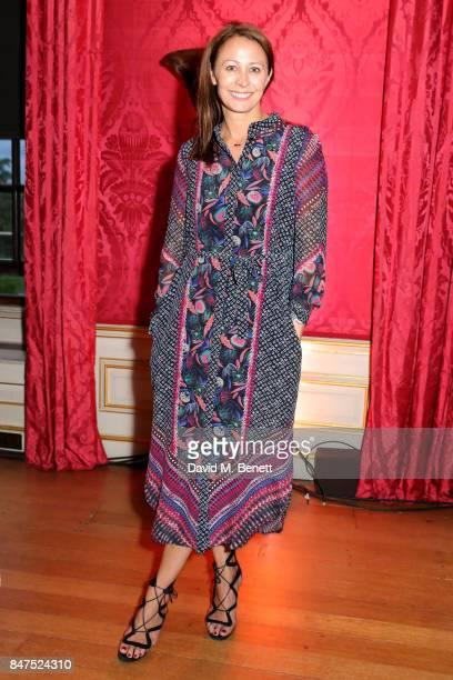Chief Executive of the British Fashion Council Caroline Rush attends the official COUTURiSSIMO UK launch at The Orangery at Kensington Palace during...