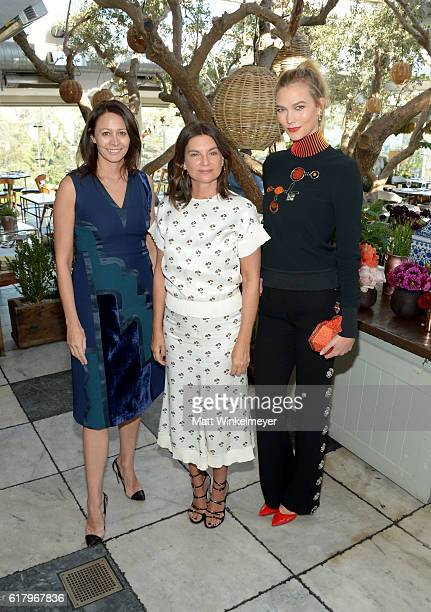 Chief Executive of the British Fashion Council Caroline Rush Dame Natalie Massenet and fashion model Karlie Kloss attend The Fashion Awards 2016...