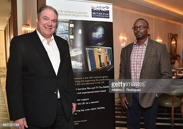 Chief Executive of the British Film Commission Adrian Wootton and Director in the Film TV department of Saffery Champness Moses Nyachae attend the...