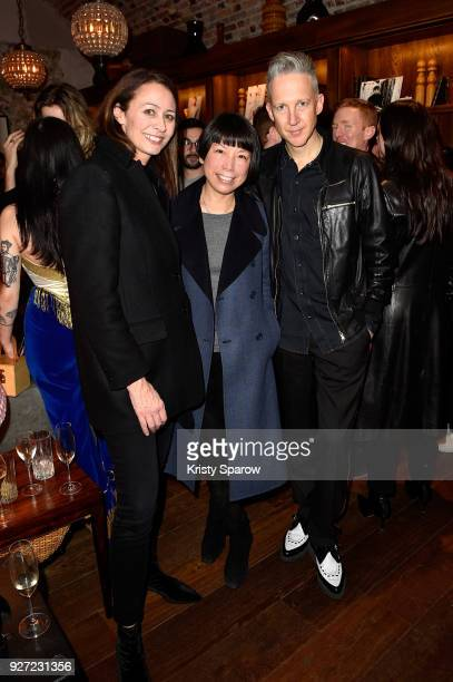 Chief Executive of the Britsh Fashion Council Caroline Rush and Jefferson Hack attend the London Show Rooms 10th anniversary party as part of the...