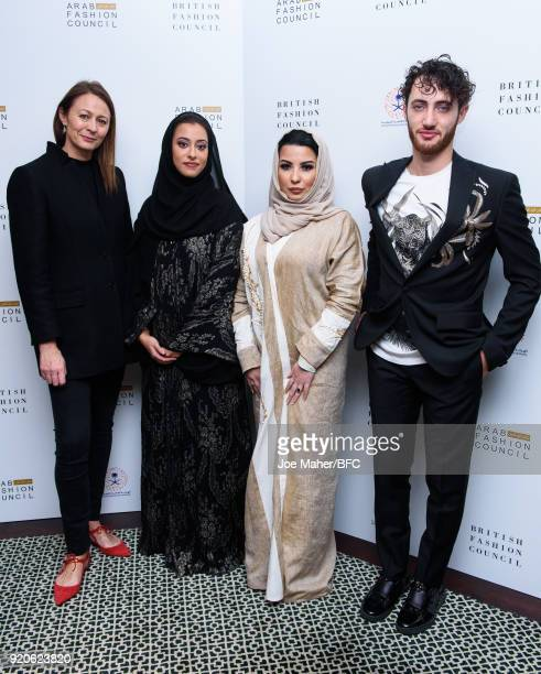 Chief Executive of the Britsh Fashion Councilm Caroline Rush Honorary President of the Arab Council H H Princess Noura Bint Faisal Al Saud Country...