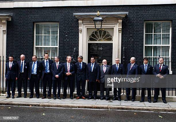 Chief Executive of the England Bid Andy Anson Leader of the FIFA inspection team FA Harold Mayne Nicholls South Africa 2010 Chief Executive Danny...
