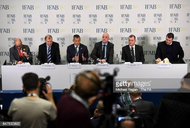 Chief executive, of The Football Association of Wales, Jonathan Ford, Cheif executive, of The Football Association of Scotland, Stewart Regan, The...