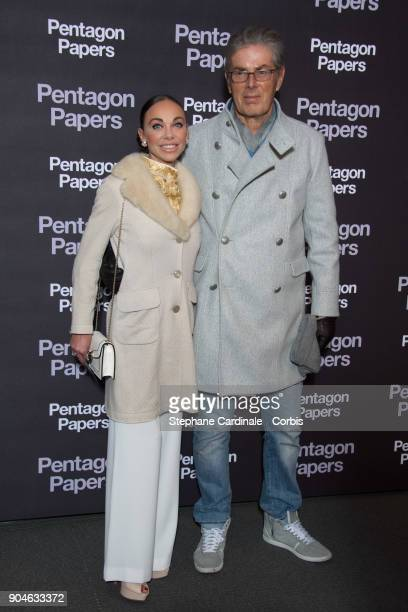 Chief Executive of the Groupe Lucien Barriere Dominique Desseigne and Alexandra Cardinale attend 'Pentagon Papers' Premiere at Cinema UGC Normandie...