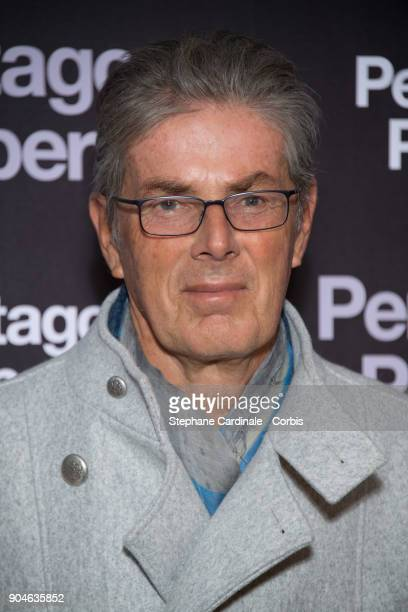 Chief Executive of the Groupe Lucien Barriere Dominique Desseigne attends 'Pentagon Papers' Premiere at Cinema UGC Normandie on January 13 2018 in...