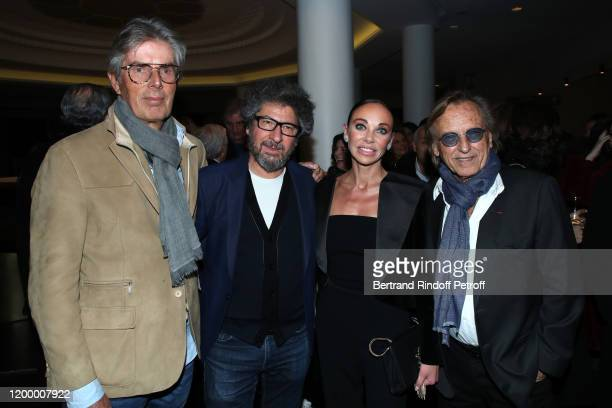 Chief Executive of the Lucien Barriere Group Dominique Desseigne Radu Mihaileanu Producer and Dancer of the show Alexandra Cardinale and Alexandre...