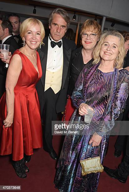 Chief Executive of The Old Vic Sally Greene Jeremy Irons Eddie Izzard and Sinead Cusack attend The Old Vic for A Gala Celebration in Honour of Kevin...