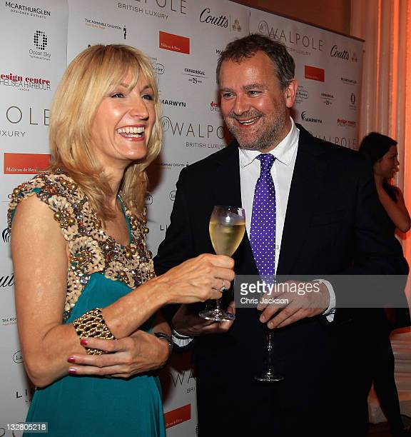 Chief Executive of Walpole Julia Carrick and actor Hugh Bonneville are pictured at the Walpole Awards of Excellence 2011 at Banqueting House on...