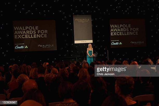 Chief Executive of Walpole Julia Carrick talks on stage at the Walpole Awards of Excellence 2011 at Banqueting House on November 14 2011 in London...