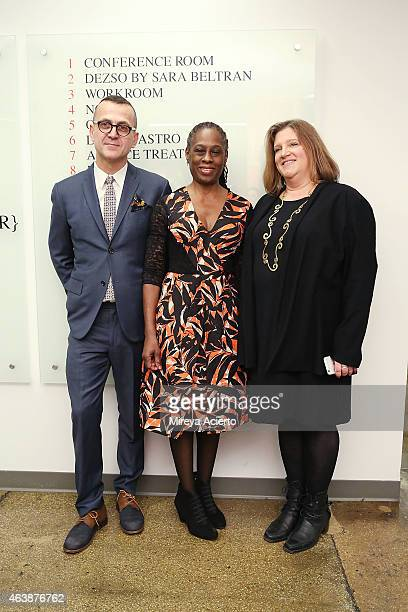 Chief Executive Office of CFDA Steven Kolb First Lady of New York City Chirlane McCray and Executive Director of CFDA Lisa Smilor attend CFDA...