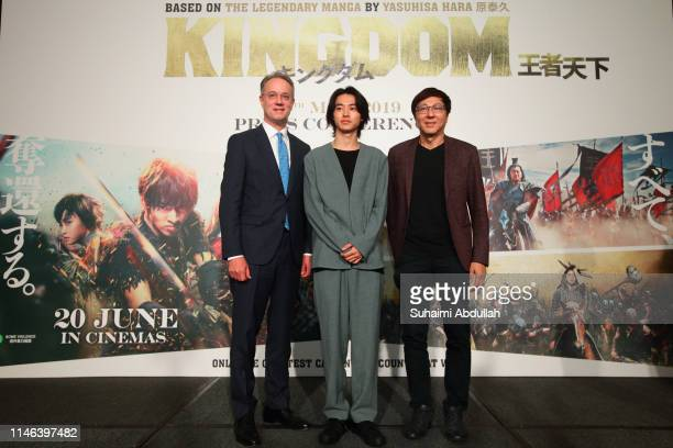 Chief Executive Officer and President of Marina Bay Sands George Tanasijevich Japanese actor Kento Yamazaki and Chief Executive Officer of Mm2 Asia...