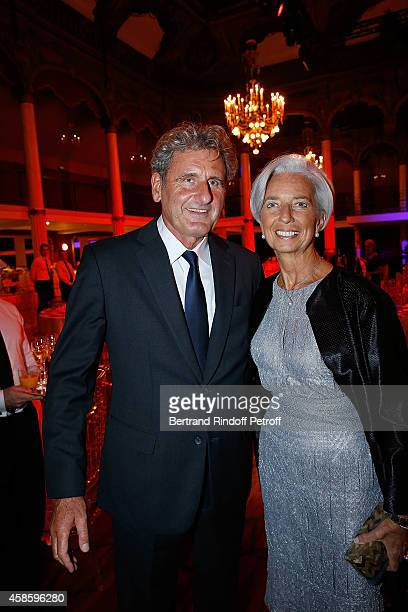 Chief Executive Officer Christine Lagarde and Xavier Giocanti attend the FrenchAmerican Foundation Gala Dinner at Salle Wagram on November 7 2014 in...