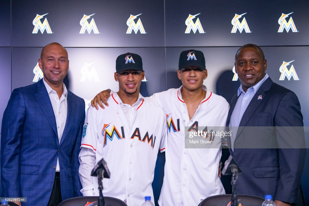 Miami Marlins News Conference : News Photo