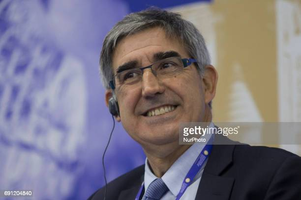 Chief Executive Officer Euroleague Basketball Jordi Bertomeu attends a session of the St Petersburg International Economic Forum Russia June 1 2017