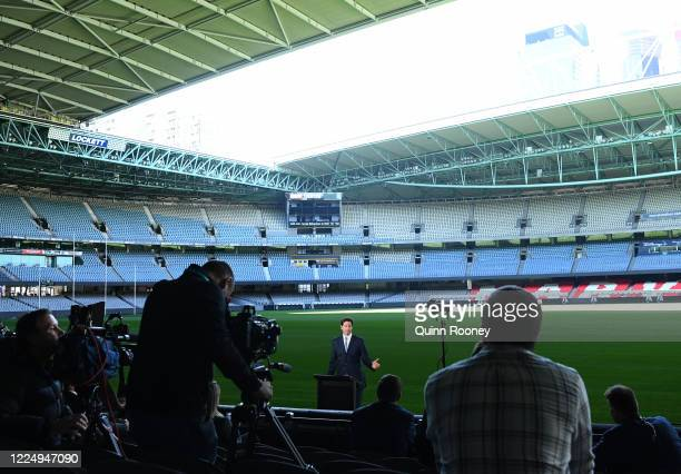 Chief Executive Officer Gillon McLachlan announces that clubs will return to training on May 18 and the 2020 AFL Premiership season will resume on...