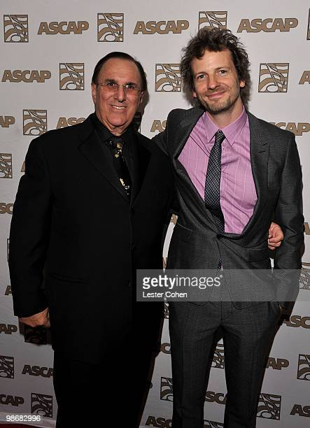 Chief Executive Officer John LoFrumento and ASCAP Songwriter of the Year Lukasz 'Dr Luke' Gottwald arrive at the 27th Annual ASCAP Pop Music Awards...